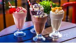Aromat blueberry milkshake