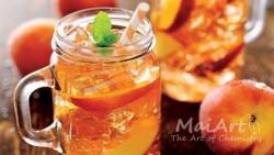 Aromat peach ice tea