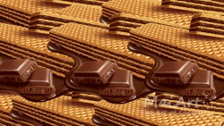 Premix chocolate wafers