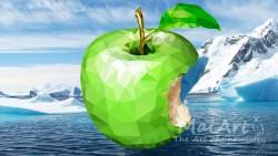Premix frozen apples